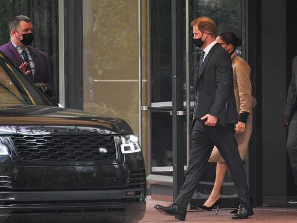 Prince Harry Carried Folio That Said 'Archie's Papa' in NYC