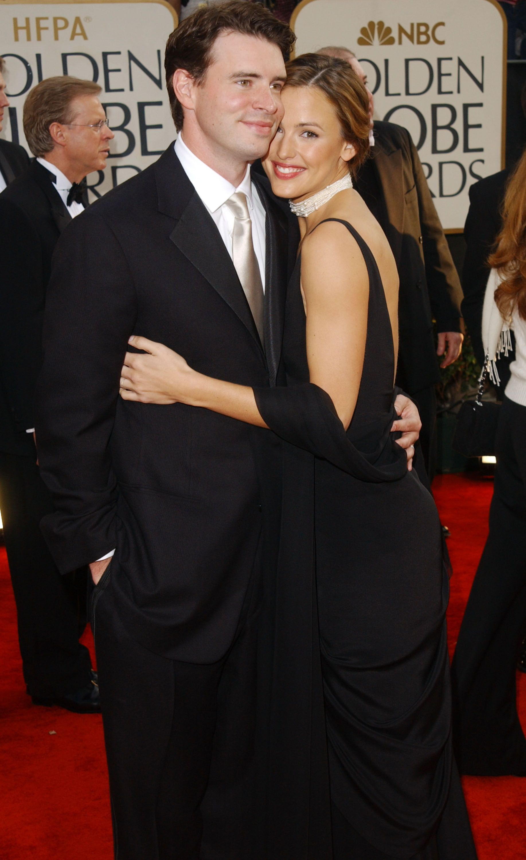 Scott Foley and Jennifer Garner at the 60th Annual Golden Globe Awards on January 19, 2003  
