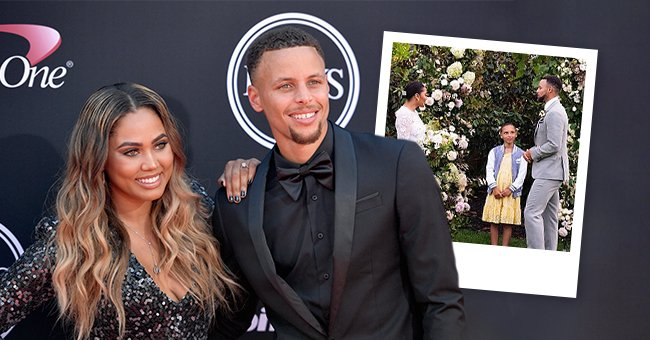 NBA player Steph Curry and wife Ayesha Curry attend the 2017 ESPYS at Microsoft Theater on July 12, 2017 in Los Angeles, California  