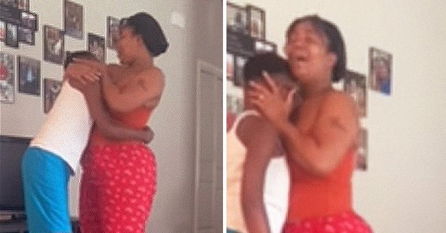 A mother and her son who has muscular dystrophy embrace and dance together as his final wish after doctors said he only has months to live | Photo: Facebook/MRS.ANDERSON101418