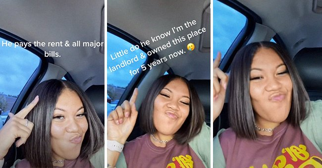 Woman reveals she is her boyfriend's landlord and explains he has been paying rent to her without his knowledge   Photo: TikTok/jaynedoee0