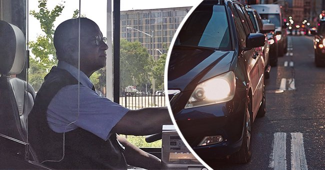 A brave bus driver saves a young child who was about to walk into oncoming traffic.