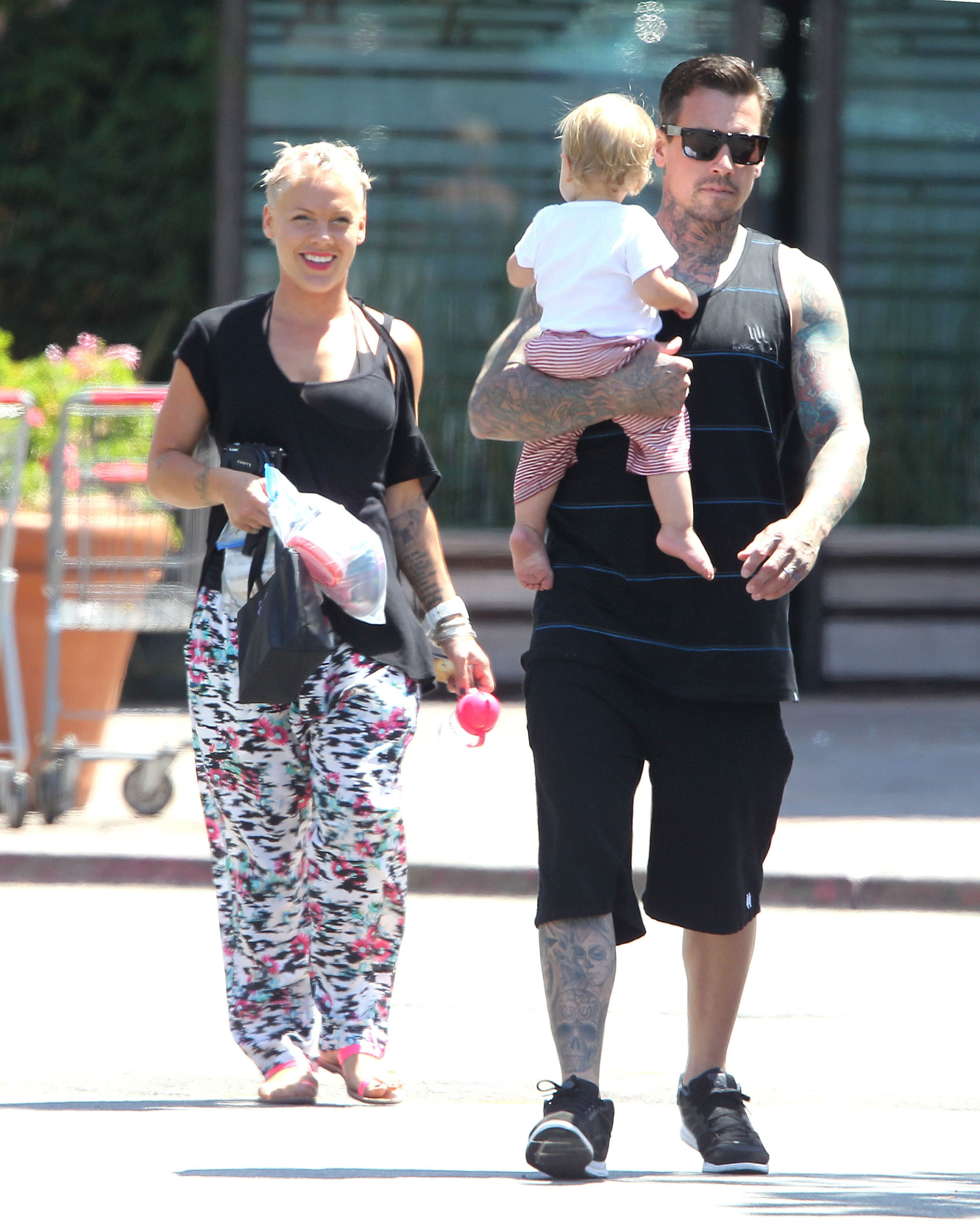 Pink Husband Carey Hart shares a sweet photo of son Jameson's first day of Preschool!