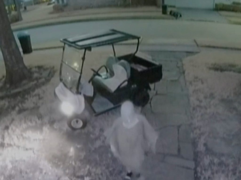 Woman Driving Golf Cart Caught Red-Handed On Camera Stealing A Parcel!!
