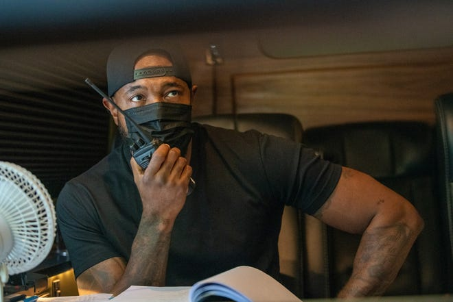 """Antoine Fuqua had to direct his Netflix thriller """"The Guilty"""" while quarantined in a van because of COVID-19 protocols."""