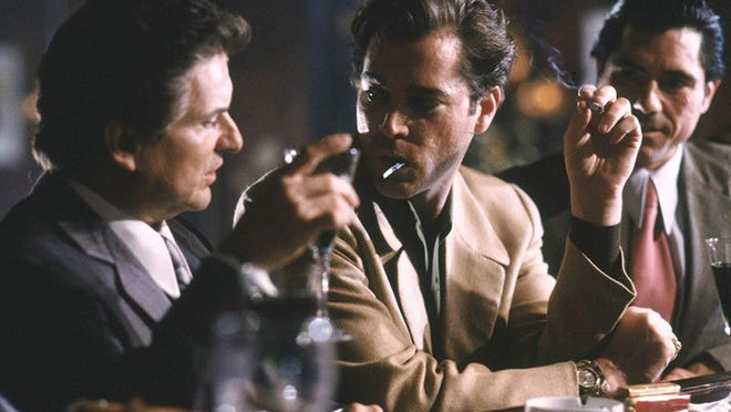"""Joe Pesci, left, and Ray Liotta, playing mobster Harry Hill, in 1990's """"Goodfellas."""""""