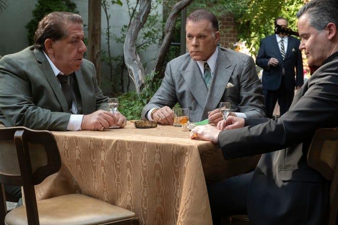 "Joey Coco Diaz, Ray Liotta and John Borras in ""The Many Saints of Newark."""