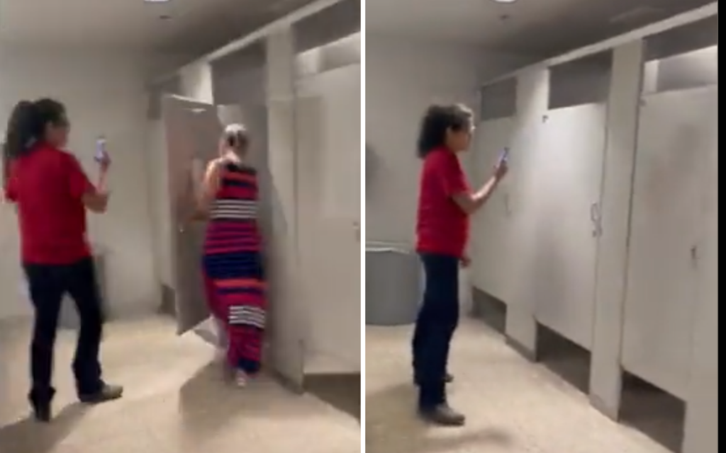 Controversial Democrat Kyrsten Sinema heckled while on the toilet by protesters