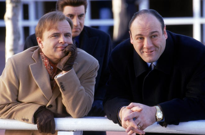 """Joe Pantoliano (next to James Gandolfini) went on to win an Emmy for his role in """"Sopranos."""""""