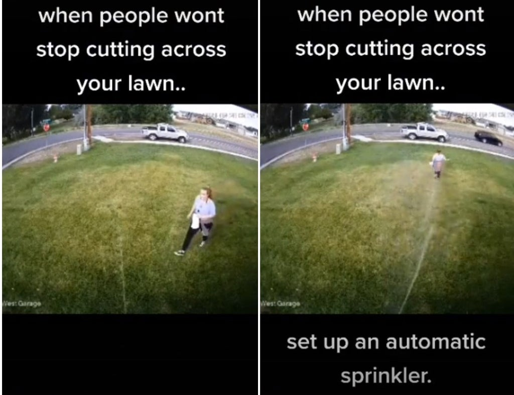 TikTok divided over man's controversial method of stopping people walking on his lawn